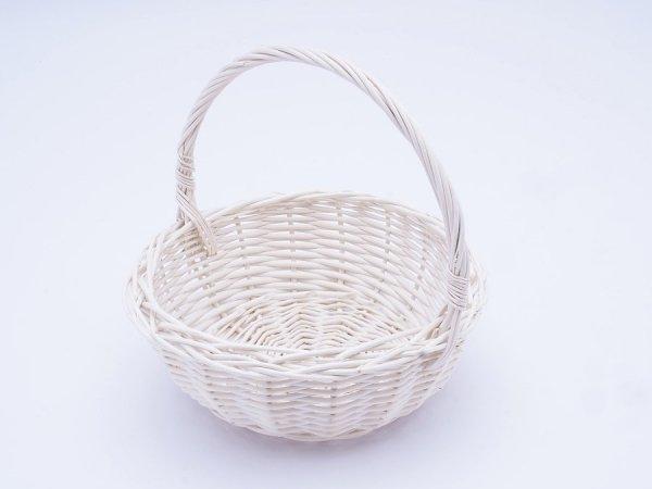 Koszyczek Wielkanocny (Biały/22cm) - Sklep z wiklina - zdjęcie