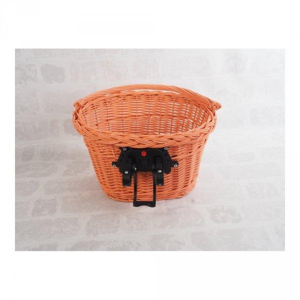 Kosz rowerowy przedni (clik, pomarańczowy) - sklep z wiklina - zdjęcie 3