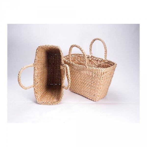 Kosz na zakupy - torba plażowa (Rafia/40cm) - sklep z wiklina - zdjęcie 1