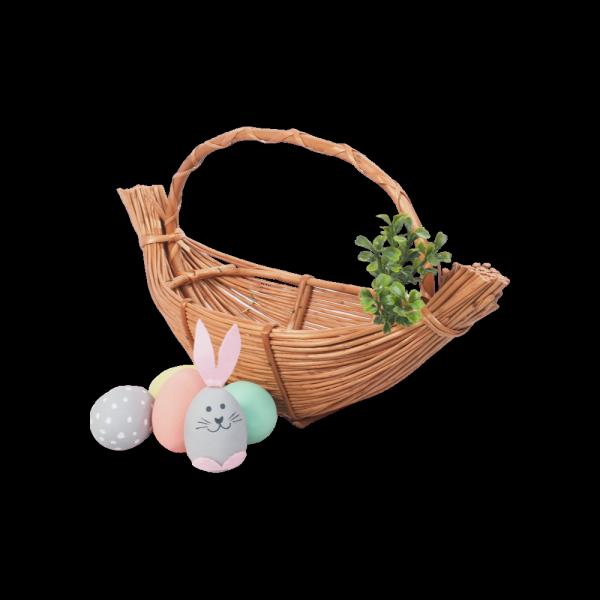 Koszyczek Wielkanocny (gniazdko 40 cm) - sklep z wiklina - zdjęcie