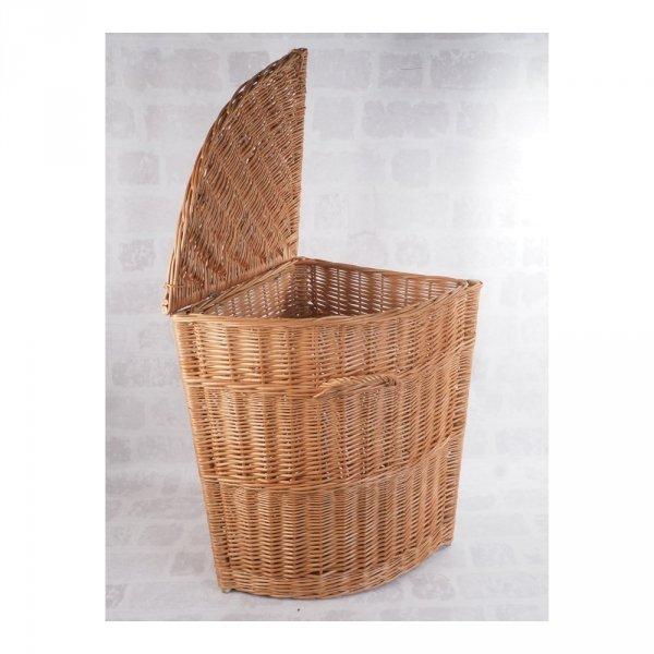 Kosz na ubrania (narożny/45cm) - sklep z wiklina - zdjęcie 2
