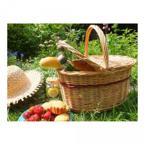 Kosz piknikowy (wzór 7) - sklep z wiklina - zdjęcie 3