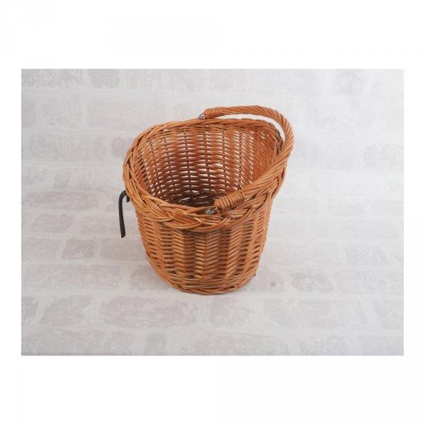 Kosz rowerowy przedni (haki, naturalny) - sklep z wiklina - zdjęcie 2