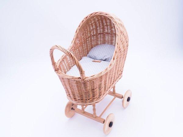 Wózek dla lalek (Klasyczny/50cm) - Sklep z wiklina - zdjęcie