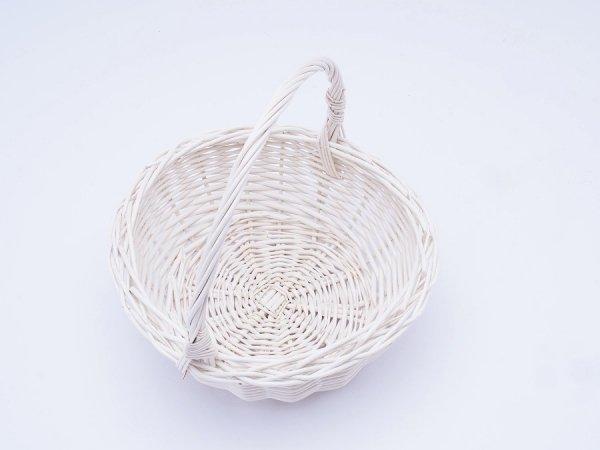 Koszyczek Wielkanocny (Biały/22cm) - Sklep z wiklina - zdjęcie 1