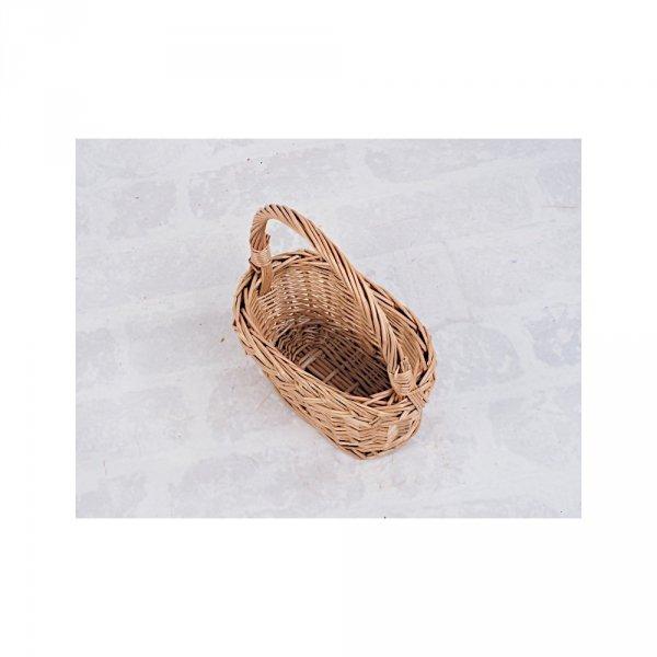 Koszyczek Wielkanocny  (Owalny/28 cm) - Sklep z wiklina - zdjęcie 3