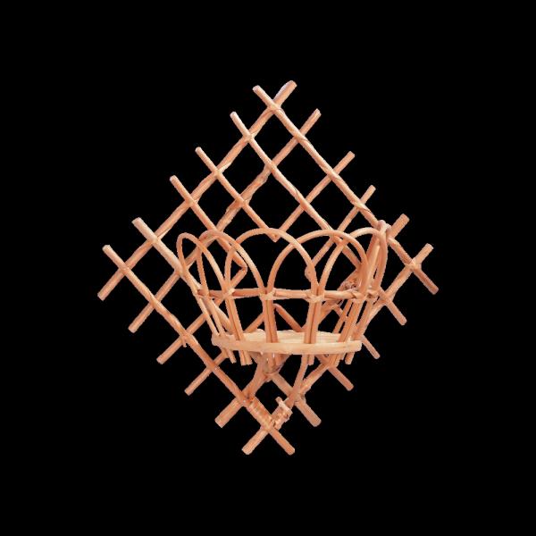 kwietnik wiszący (Kratka/1D) - sklep z wiklina - zdjęcie