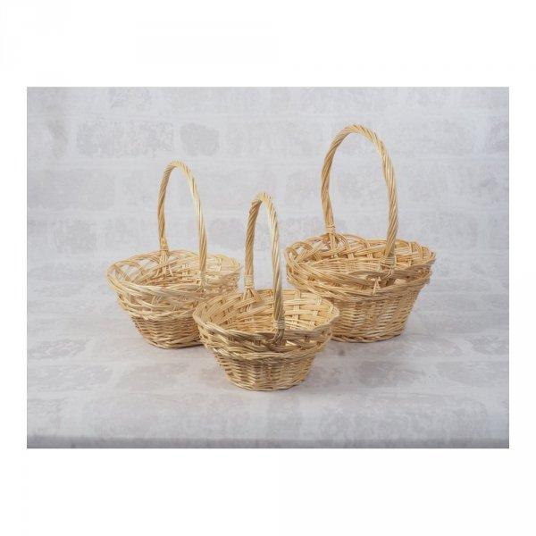 Koszyczek Wielkanocny (beżowy/25cm) - sklep z wiklina - zdjęcie 3