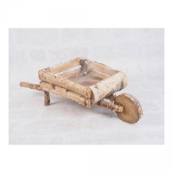 Donica brzozowa (taczka) - sklep z wiklina - zdjęcie