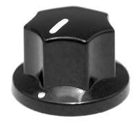 Gałka styl MXR czarna mała push-on