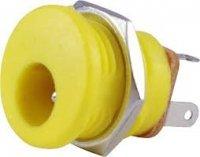 Gniazdo DC 2.1mm, styl Boss (żółta)