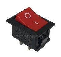 Przełącznik rocker MRS101 czerwony SPST