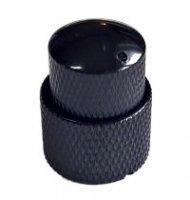 Gałka metalowa dome podwójna czarna