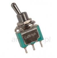 Przełącznik dźwigniowy SPDT mini GORVA, short