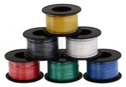 Kabel jednożyłowy solid 0,25mm2 orange (drut)
