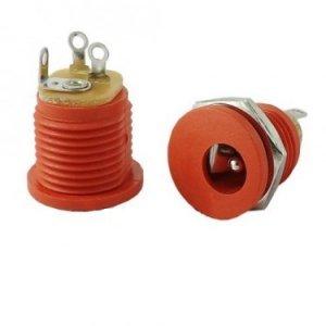 Gniazdo DC 2.1mm, styl Boss (czerwone)