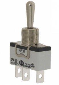 Przełącznik dźwigniowy Apem SPDT 3 pozycyjny (ON-OFF-ON)