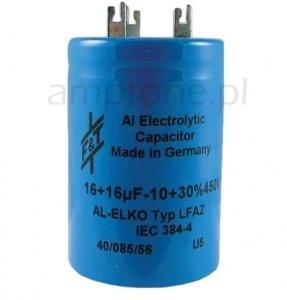 Kondensator 16uF+16uF 450V F&T