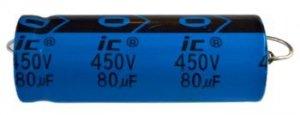Kondensator 80uF 450V osiowy Illinois