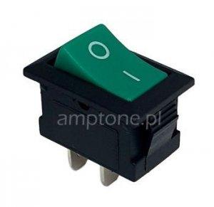 Przełącznik rocker MRS101 zielony SPST