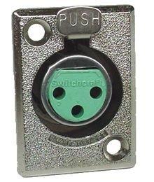 Gniazdo XLR żeńskie D3F Switchcraft
