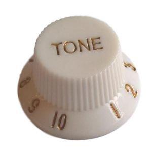 Gałka gitarowa Strat styl, biała 'TONE'