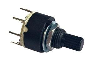 Przełącznik obrotowy 4 pozycje 2 obw. 16mm