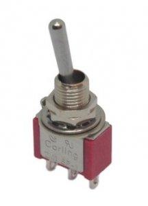 Przełącznik dźwigniowy SPDT Carling mini