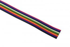 Kabel wielokolorowy, wstążkowy 10x0,35