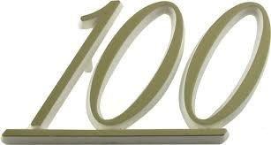 Logo Marshall, Gold lettering, 100
