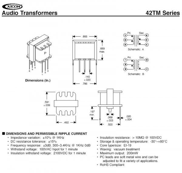 Transformator 42TM022