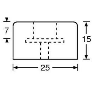 Nóżka gumowa 25x15