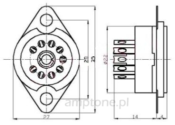 Podstawka Noval  9pin typ3