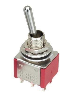 Przełącznik dźwigniowy DP3T M203 mini (ON-OFF-ON)