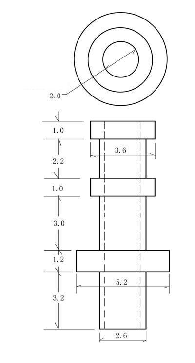 Turret Keystone 2mm (10szt)