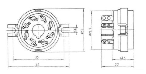 Podstawka Octal ceramiczna  8pin typ1