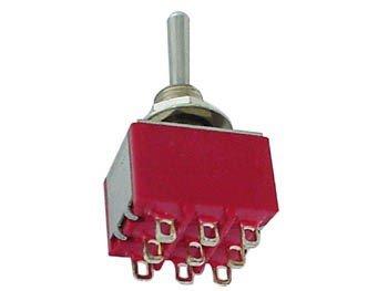 Przełącznik dźwigniowy 3PDT M302 mini