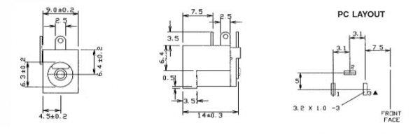Gniazdo DC power 2.1mm (PCB) CLIFF