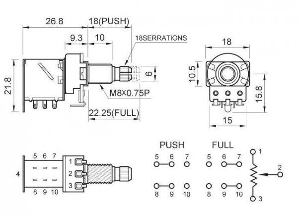 Partsland 250k/B liniowy push-pull