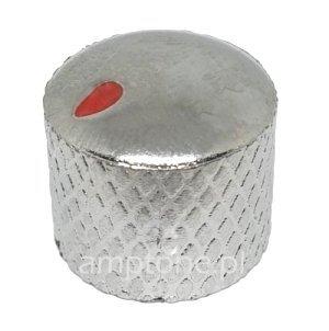 Gałka Dome plastik srebrna