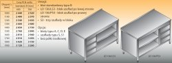 Stół roboczy z blokiem szuflad i szafką otwartą lo 136/s3 - 1300x700
