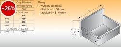Zlewozmywak 1-komorowy ścienny lo 411 - 700x500