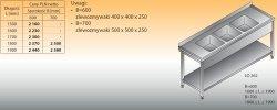 Stół zlewozmywakowy 3-zbiornikowy lo 262 - 1800x600