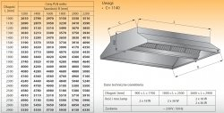 Okap centralny z oświetleniem lo 911 - 2800x2200