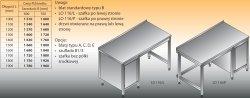 Stół roboczy z szafką lo 116/l; lo 116/p 1900/600