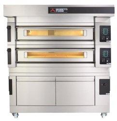 Moretti Forni dwukomorowy elektryczny piec do pizzy i piekarniczy z okapem i bazą S120E - kod MFS120D