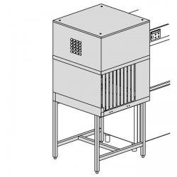 Moduł suszący o mocy 9 kW z mechanizmem przesuwu koszy z wyjściem pod kątem 90°, gwarantujący perfekcyjnie suche naczynia