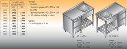 Stół zlewozmywakowy 1-zbiornikowy lo 210/s2 - 1800x700