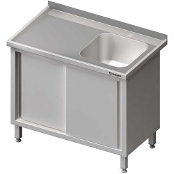 Stół ze zlewem 1-kom.(P),drzwi suwane 1900x700x850 mm