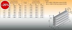 Cztery półki naścienne z szynami lo 634 - 1800x400